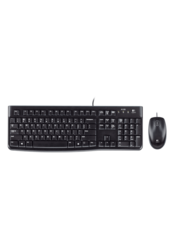 fashionothon - Logitech MK120 Wired Keyboard and Mouse Combo Black