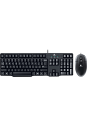 Fashionothon Logitech Mk100 Wired Keyboard With Wired Optical Mouse Co