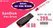 Yeskart launches SanDisk 16GB PenDrives Only at Rs 299/-