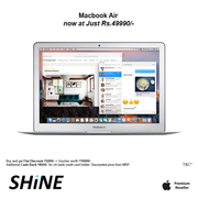 Apple MacBook Air 13-inch 128GB offer only on SHINE Poorvika
